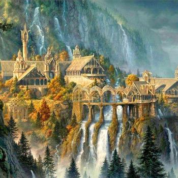 CRAFTS The Rivendell Waterfalls Cross Stitch Pattern***L@@K***$4.95***