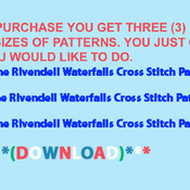 CRAFTS The Rivendell Waterfalls Cross Stitch Pattern***L@@K***$4.95***
