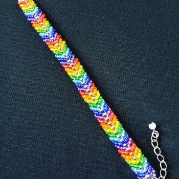 Handmade Chevron V Rainbow Bracelet Jewellery