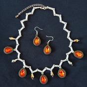Handmade Heartbeat Teardrops Earrings Set Jewellery