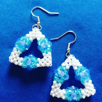 Handmade Triangle Sky Earrings Jewellery