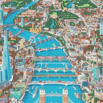 counted Cross Stitch Pattern london map view 358*501 stitches CH680