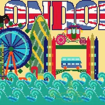 counted Cross Stitch Pattern london mini map view 178*133 stitches CH1268