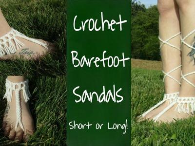 Crochet Barefoot Sandals   Crochet Barefoot Sandals Boho Style