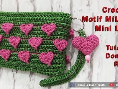 Crochet || Dompet Rajut MiLove - Mini Love Crochet [Subtitles Available]