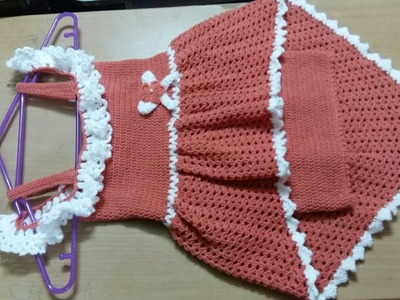 CROCHET DRESS FOR 2 TO 3 YRS. BEGINNERS FRIENDLY.