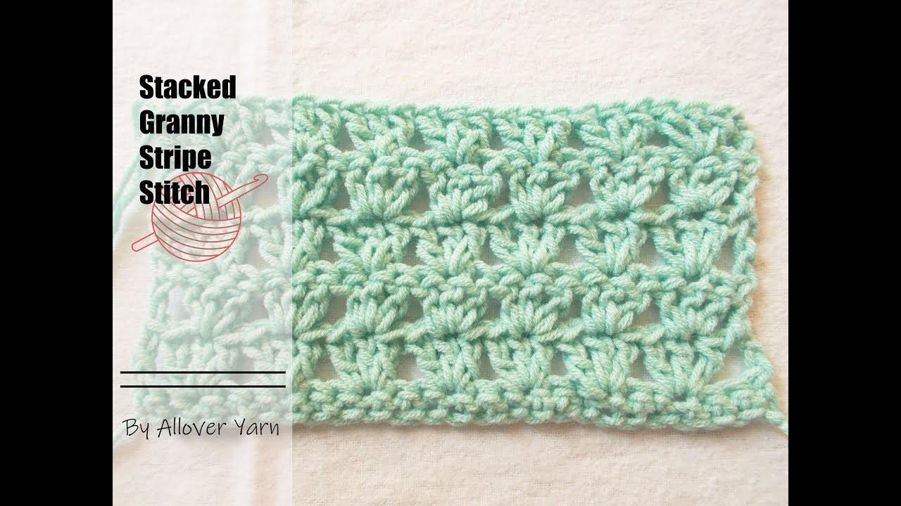 Crochet: Stacked Granny Stripe Stitch