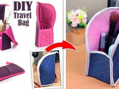 DIY ADORABLE JEANS PURSE BAG. Zipper Travel Pouch. OLD JEANS TRANSFORM