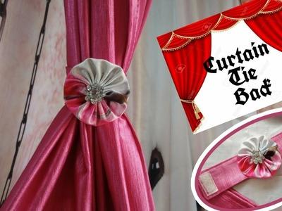 DIY Curtain Tie Back using Velcro Closure