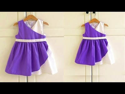 Diy Designer Baby Frock For 3 to 4 Year Cutting & Stitching Full Tutorial