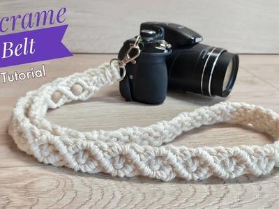 DIY Macrame Belt Tutorial   Strap For Camera   Belt for Bag