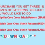 CRAFTS Dolphin Cave Cross Stitch Pattern***LOOK***Buyers Can Download Your Pattern As Soon As They Complete The Purchase