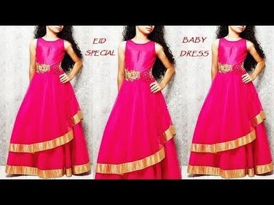 EID SPECIAL.DIY Designer BABY DRESS cutting and stitching Full Tutorial