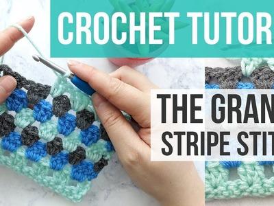 GRANNY STRIPE STITCH TUTORIAL, Learn to Crochet the Granny Stripe Stitch | Just Be Crafty