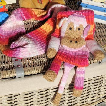 Handmade Children Monkey Scarf - Free Shipping