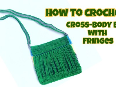 How to Crochet a Cross-body Bag with Fringes