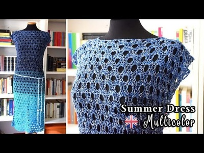 How to crochet a Summer Dress Multicolor
