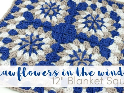 "How To Crochet The Strawflowers In The Window 12"" Square"
