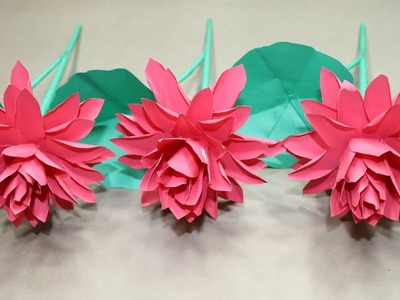 Ideas How To Make Beautiful Handcraft Paper Stick Flower Crepe