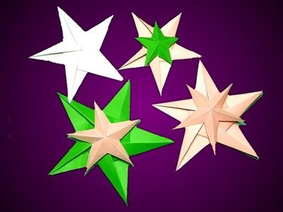 How to make paper star | DIY Paper Craft Ideas | Unskill Talent