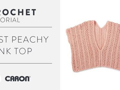 Just Peachy Crochet Tank Top   Lace Stitch Tutorial
