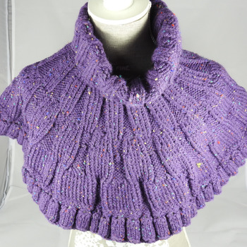 Knitted Purple Women's Caplet - FREE SHIPPING