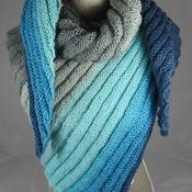 Knitted Women's Triangular Wrap Around Shawl - FREE SHIPPING