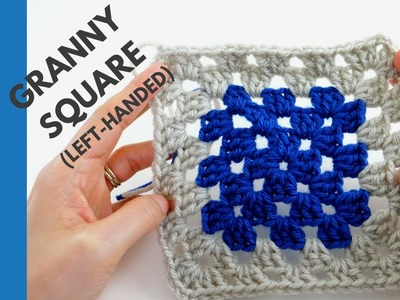 Left-Handed: How to Crochet a Granny Square | Quick & Easy Tutorial