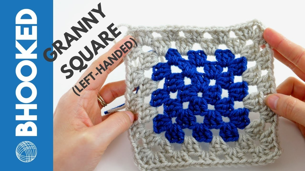 Left-Handed: How to Crochet a Granny Square   Quick & Easy Tutorial