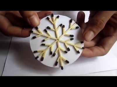 Matchstick SnowFlake home decoration craft
