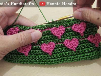Mini Crochet Tutorial || Merajut Motif MiLove - Mini Love Stitch [No Sound]