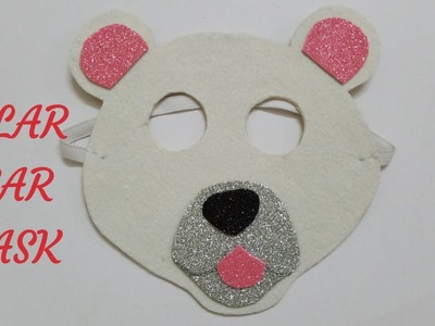 Polar bear mask| How to make polar bear mask| School Craft|