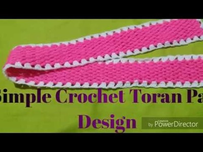 Simple Crochet Toran Patti Design, Door Hanging Toran Patti Design.