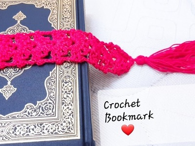 Very easy crochet bookmark pattern| CROCHET BOOKMARK STEP BY STEP TUTORIAL|The Crochet World