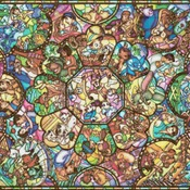 Counted Cross Stitch Disney stained glass 496*352 stitches CH610