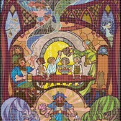Counted Cross Stitch Lord of the Rings stained glass 276 * 386 stitches BN1095