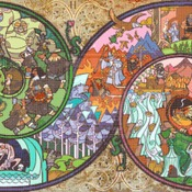 counted Cross Stitch Pattern LOTR lord of the rings WOW 496x238 stitches CH826