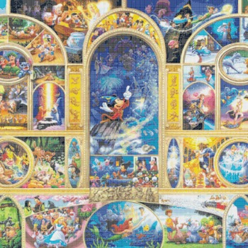 counted Cross stitch pattern disney world characters embroidery 496*339 stitches CH882