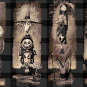 counted Cross Stitch Pattern nightmare before christmas 367x220 stitches CH1527