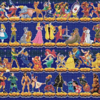 counted cross stitch pattern disney history timeline 441*331 stitches CH868