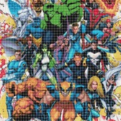 counted cross stitch pattern Marvel superheroes 276*401 stitches CH796
