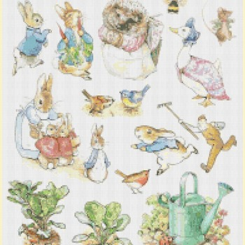 counted cross stitch pattern characters of world of potter 375*274 stitches CH1377