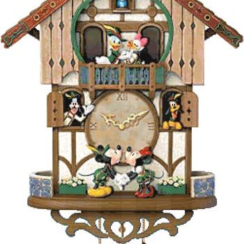 counted cross Stitch Pattern disney chalet cuckoo clock 249*400 stitches CH2300