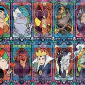 counted cross stitch pattern disney villains stained 386*289 stitches CH2038