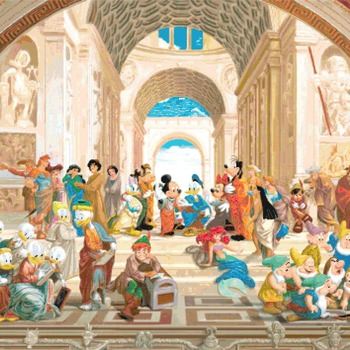counted cross stitch pattern disney School of Athens needlepoint 496*354 stitches CH2286