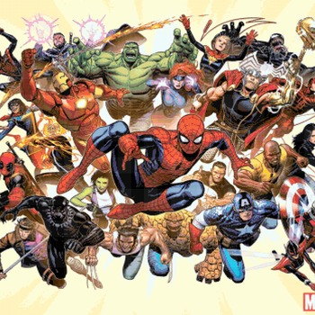 counted cross stitch pattern Marvel superheroes441*348 stitches CH2198