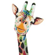 counted Cross Stitch Pattern watercolor giraffe 99*168 stitches CH1885