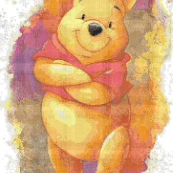 Counted cross stitch pattern winnie pooh watercolor 165*255 stitches CH1921