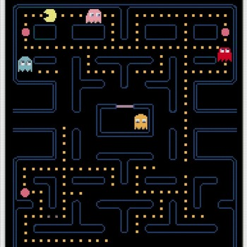 counted cross stitch pattern pacman game arcade 193*235 stitches CH800