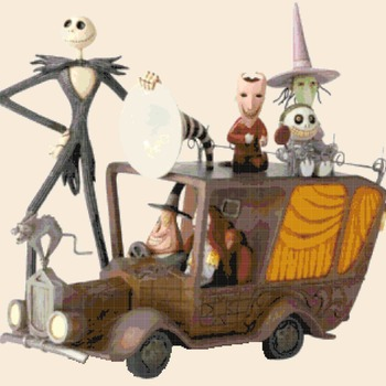 counted Cross Stitch Pattern nightmare before christmas 324x309 stitches CH2257